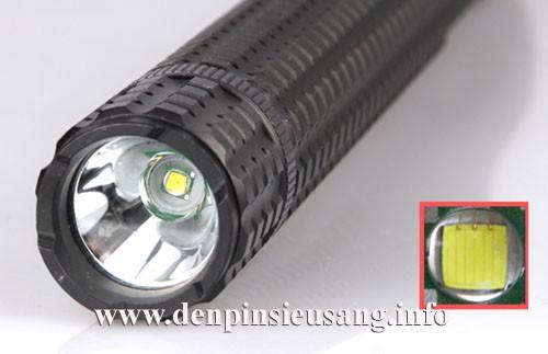 Đèn pin tự vệ X110 dùng Led CREE Q5 với độ sáng cực mạnh lên đến 220 Lumen